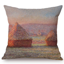 Load image into Gallery viewer, Claude Monet Inspired Cushion Covers Haystacks Cushion Cover