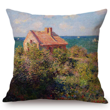 Load image into Gallery viewer, Claude Monet Inspired Cushion Covers Fishermans Cottage At Varengeville Cushion Cover