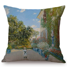 Load image into Gallery viewer, Claude Monet Inspired Cushion Covers The Artists House At Argenteuil Cushion Cover