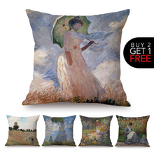 Load image into Gallery viewer, Claude Monet Inspired Cushion Covers