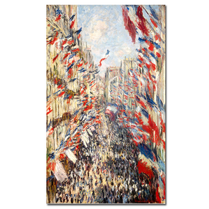 "Claude Monet ""Rue Montorgueil"" Wall Art"