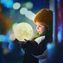 Load image into Gallery viewer, LED Moon Lamp