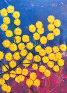 Mimosa Flower painting by JV Fiori