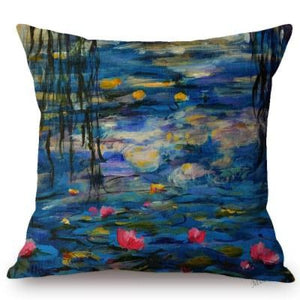Claude Monet Inspired Cushion Covers Water Lilies(Variation) Cushion Cover