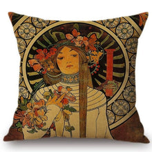 Load image into Gallery viewer, Alphonse Mucha Inspired Cushion Covers The Trappistine Cushion Cover