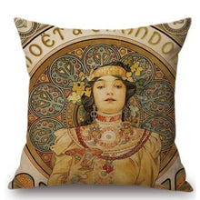 Load image into Gallery viewer, Alphonse Mucha Inspired Cushion Covers Chandon Cremont Imperial Cushion Cover