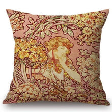 Load image into Gallery viewer, Alphonse Mucha Inspired Cushion Covers Cushion Cover