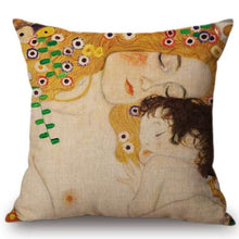 Load image into Gallery viewer, Gustav Klimt Inspired Cushion Covers Mother And Child Cushion Cover
