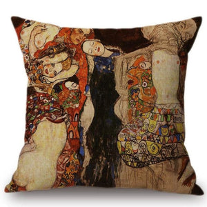 Gustav Klimt Inspired Cushion Covers The Bride Cushion Cover