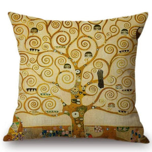 Gustav Klimt Inspired Cushion Covers Tree Of Life Cushion Cover