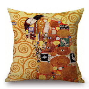 Gustav Klimt Inspired Cushion Covers Fulfillment Cushion Cover