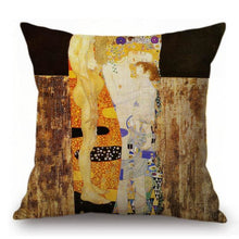 Load image into Gallery viewer, Gustav Klimt Inspired Cushion Covers The Three Ages Of Woman Cushion Cover
