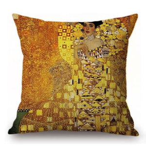 Gustav Klimt Inspired Cushion Covers Portrait Of Adele Bloch-Bauer I Cushion Cover