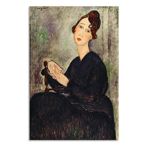 "Amedeo Modigliani ""Portrait of Dedie"" Wall Art"