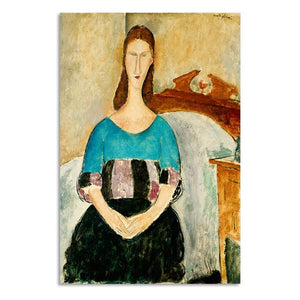 "Amedeo Modigliani ""Portrait of Jeanne Hebuterne"" Wall Art"