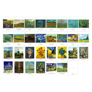 Vincent van Gogh Postcards - 30 sheets/pack