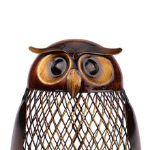 Load image into Gallery viewer, Metal Owl-Shaped Piggy Bank