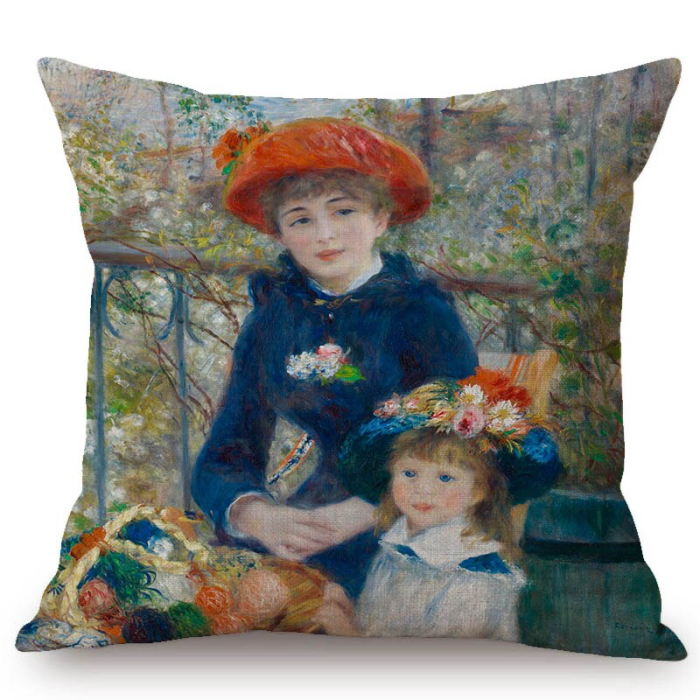 Auguste Renoir Inspired Cushion Covers 1 Cushion Cover