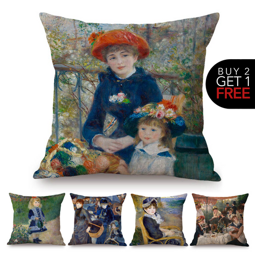 Auguste Renoir Inspired Cushion Covers