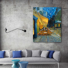 Load image into Gallery viewer, Café Terrace at Night hand-painted Van Gogh reproduction