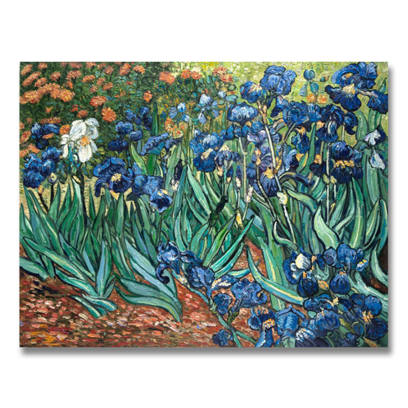 Irises hand-painted Van Gogh reproduction