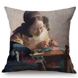 Johannes Vermeer Inspired Cushion Covers 2 Cushion Cover