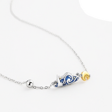 Load image into Gallery viewer, Van Gogh's Sky Handmade Silver Necklace