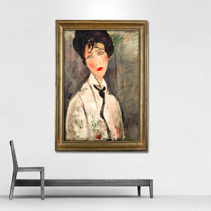 "Amedeo Modigliani ""Woman with Black Tie"" Wall Art"
