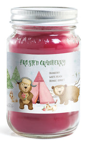 Mason Jar - Frosted Cranberry