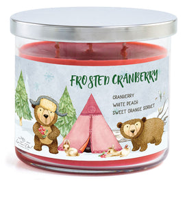 3-Wick Candle - Frosted Cranberry