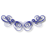Reflective Filigree H (pair)
