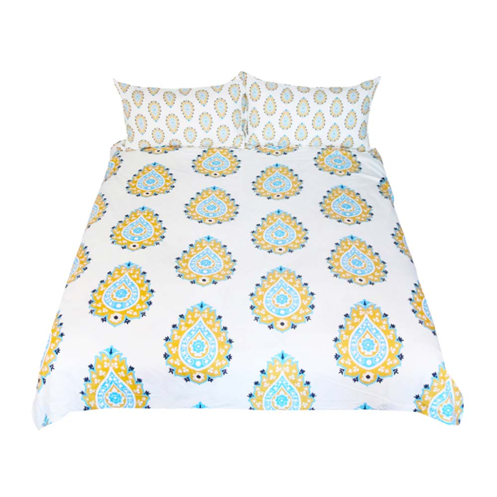 Dropship Floral Bedding Set Classical Printed  Duvet Cover  Set With Pillowcase 3-Piece Kids - Dropshipful.com