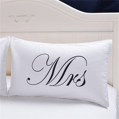 Mr and Mrs Pillow Cases Couple Pillowcases Personalized Pillow Cover For Anniversary Wedding Gift - Dropshipful.com