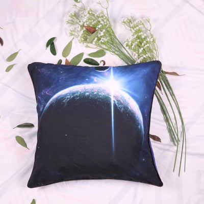 Microfiber Earth Cushion Cover Vivid 3D Galaxy Decorative Pillow Cover Square Bedclothes