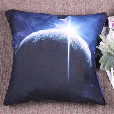 Microfiber Earth Cushion Cover Vivid 3D Galaxy Decorative Pillow Cover Square Bedclothes - Dropshipful.com