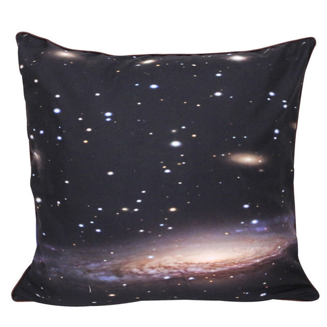 Hipster 3D Galaxy Cushion Cover Universe Outer Space Themed Printed Pillow Cover Soft - Dropshipful.com