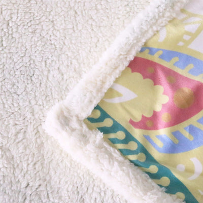 Super Soft Cozy Velvet Plush Throw Blanket Rainbow Elephant Modern Line Art Sherpa Blanket for Couch Throw Travel - Dropshipful.com