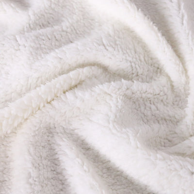 Modern Microfiber Velvet Silky Soft Sherpa Reversible Blanket  White Cross Pattern All Season Blanket - Dropshipful.com