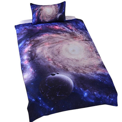 Dropshipful Amazing Galaxy Bed Set Bedding Set Queen Size 3d Close to Galaxy Quilt Cover Set Universe Bedspread Bedclothes - Dropshipful.com