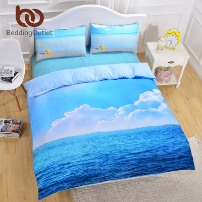 Dropshipful Starfish And Ocean Bedding Set Cool 3D Print Duvet Cover Set 3pcs Twin Queen King Size Bed Cover 2017 Hot - Dropshipful.com