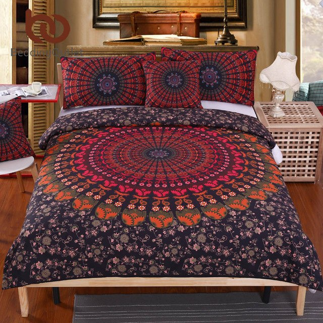 Dropshipful 5pcs Bed in a Bag Home Bedding Set Bohemian Printed Bed Cover Set Twin Full Queen King Bedclothes Dropship - Dropshipful.com