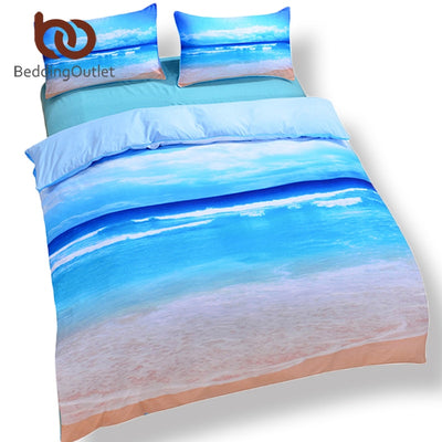Dropshipful Dropship Beach Ocean Home Textiles Hot 3D Print Duvet Cover with Pillowcase Bedding Set Queen King Home Bedclothes - Dropshipful.com