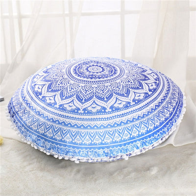 Dropshipful Round Mandala Floor Pillow Case Cover Indian Bohemian Cushion Cover Poufs Decorative   Boho Pillowcase 45cm 75cm - Dropshipful.com