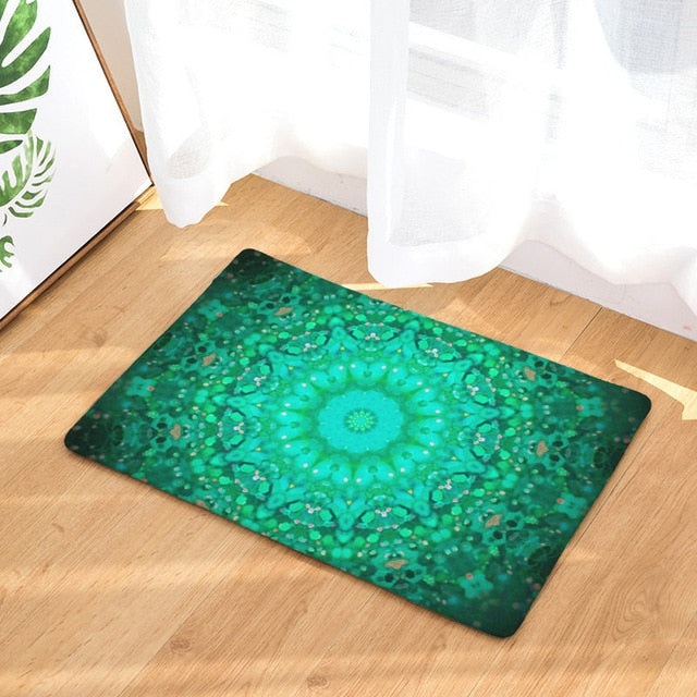 Dropshipful Geometric Print Carpet Anti-slip Floor Mat Mandala Boho Print Bathroom Kitchen Door Mat 40x60 50x80cm Area Rugs - Dropshipful.com