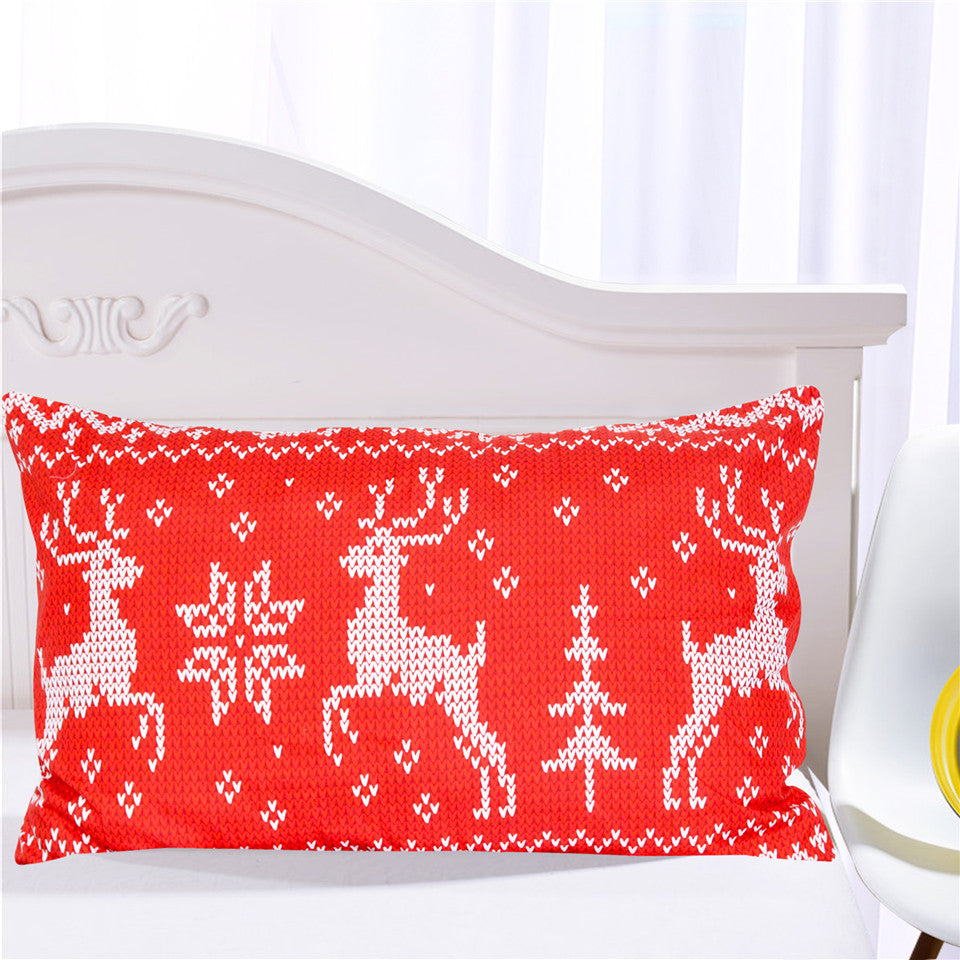Dropship Red and White Christmas Bedding Set  Elk Duvet Cover for Festival Moose3Pcs - Dropshipful.com