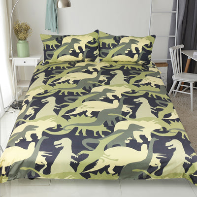 Dropship Dinosaur Troops Bedding Set  Animal Camouflage Duvet Cover Set  3pcs - Dropshipful.com