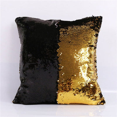 Mermaid Sequin Cushion Cover Magical DIY Pillowcase Cover Color Changing Reversible Throw Pillow - Dropshipful.com