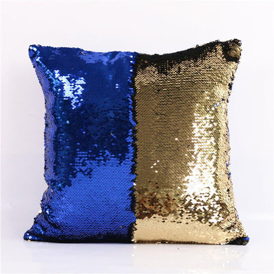 Mermaid Sequin Cushion Cover Magical DIY Pillowcase Cover Color Changing Reversible Throw Pillow