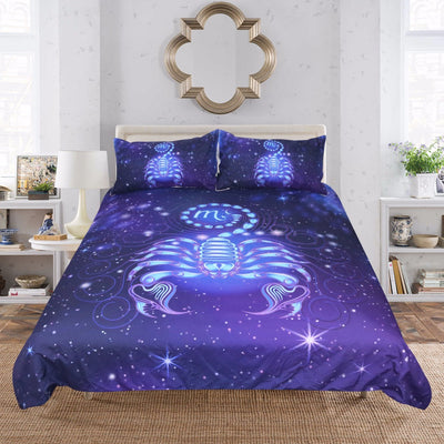 Dropship Constellation Theme Bedding Set Scorpio Star Galaxy Duvet Cover Set 3Pcs - Dropshipful.com