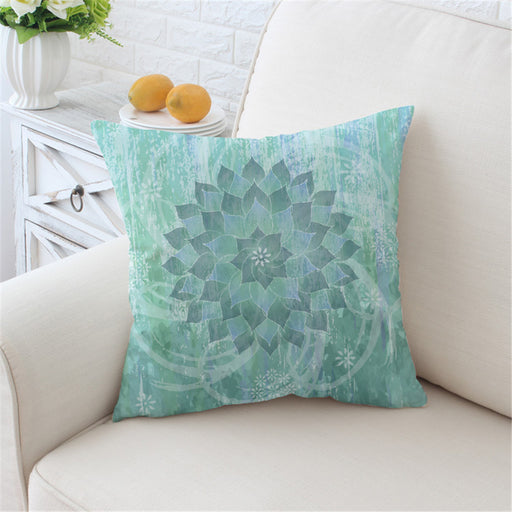 Creative Original Floral Lotus Cushion Cover Pillow Case Boho Mandala Throw Cover - Dropshipful.com